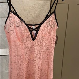 Sexy pink nightgown